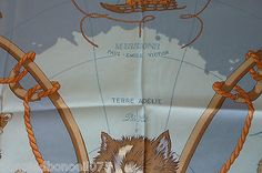 Hermes-Paris-Carre-de-soie-vintage-034-Expeditions-polaires-Francaises-034