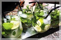 Água aromatizada limão com hortelã