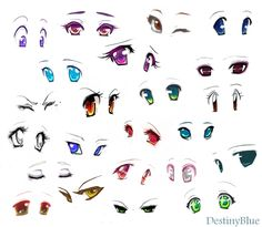 Anime eyes by DestinyBlue on @DeviantArt