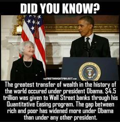 Obama Instituted the 'Greatest Transfer of Wealth in History' to the Way Of Life, The Life, Wednesday Memes, Liberal Logic, Out Of Touch, Thing 1, Conservative Politics, Social Issues, Did You Know