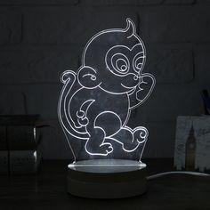20+ ideer om 3D lampen med LED lys ormen   illusjoner