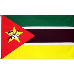 Mozambique Flag 3X5 Foot Nylon PH and FR . $1.49. Indoor Flag. Pole Hem & Fringe. This 3x5 foot Mozambique flag is made from 100 DuPont SolarMax nylon fabric with a pole hem designed to slip over an indoor or parade flagpole. A leather tab is used to attach the flag to the flagpole. Gold fringe is sewn on the top bottom and fly-end of the flag. Made in the U.S.A.