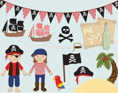 Images clipart pirate, pirate clipart, vecteur de pirate, libre de droits clip art - téléchargement immédiat