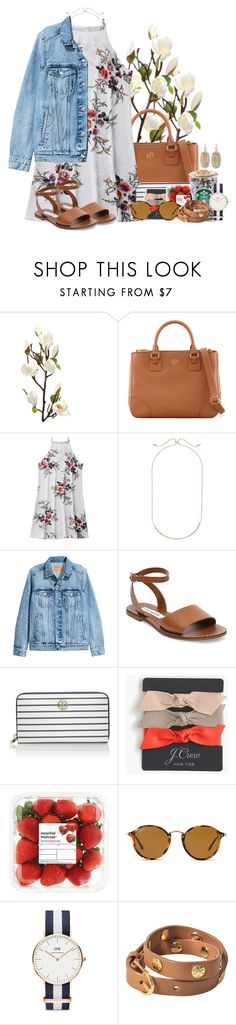 """THANK YOU SO MUCH FOR 2.8!!!!!"" by flroasburn ❤ liked on Polyvore featuring Tory Burch, Kendra Scott, H&M, Steve Madden, J.Crew, Ray-Ban and Daniel Wellington"