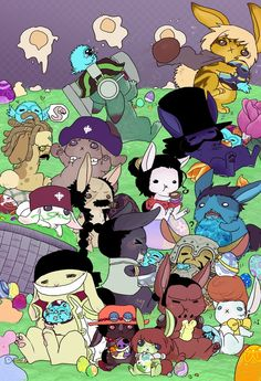 100 layers for these god damn bunnies. Why it took 100 laters to draw and color herp-derp little bunnies. I also have the overwhelming urge to chop my hand off, cuz it hur. One Piece Funny, One Piece Comic, One Piece Fanart, One Piece Manga, Susanoo Naruto, Ace And Luffy, One Peace, Big Bun, One Piece Pictures
