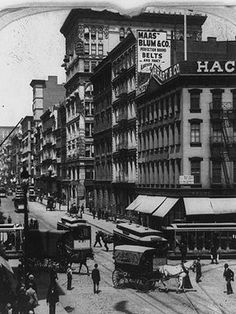 Each episode of The Bowery Boys explores a different aspect of New York City history, like how Canal Street, pictured here in 1899, once channeled water from the now-filled Collect Pond.