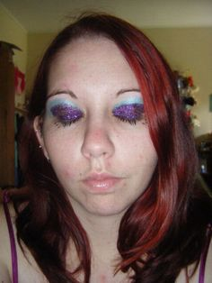 Here's an example of really bad make-up.  This girl did not have the right technique and it shows, bless her heart.  Just a great example that make-up is an art.  It takes practice, blending skills, color skills, and the right tools to get a solid look.  Also a great example of eyebrows that are a trainwreck.  Click on the link below for other mishaps in make-up.