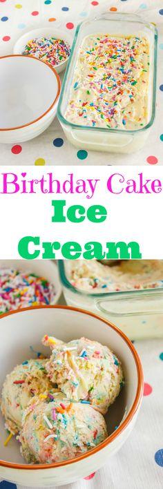 Homemade Birthday Cake Ice Cream