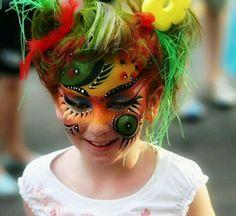 Fantasy tribal colourfull face paint schmink