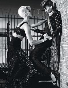 Cat Fight  Photograph by Steven Klein; styled by Edward Enninful; W magazine November 2014.