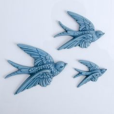 Set of Swallow Wall Plaques