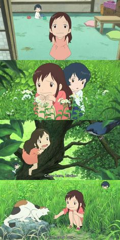 "Wolf Children | Yuki & Ame ""Our family is différent that others"" Yuki"