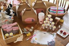 adopt a kitty birthday party! Cat Themed Parties, Puppy Birthday Parties, Bunny Birthday, Birthday Party Themes, Girl Birthday, Birthday Ideas, Kid Parties, Birthday Cupcakes, Kitten Party