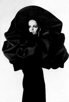 Balenciaga. Photographed by Irving Penn for Vogue, 1967.