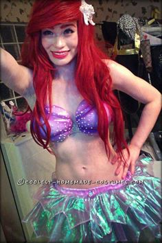 Coolest Ariel the Little Mermaid Halloween Costume... This website is the Pinterest of costumes