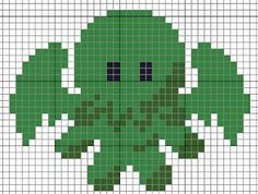 Cute Cthulhu cross-stich, and many other patterns.