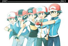 Evolution of Ash Ketchum 1997 - 2013 (Pokemon)
