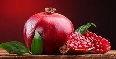 Обои фото картинки Фрукты Гранат Крупным планом Красный Еда.