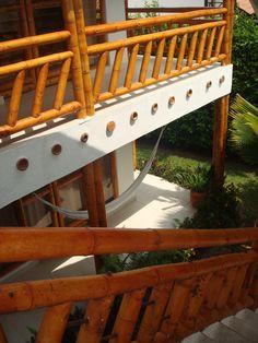 DETALLES BARANDAS ZUARQ Bamboo House Design, Modern House Design, Philippines Vacation, Casa Patio, Bamboo Architecture, Bamboo Crafts, Outdoor Living, Outdoor Decor, My House