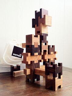 Heirloom Wood Building Blocks by Paul+Paula, via Flickr
