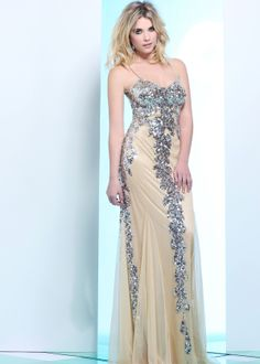 Ashley Benson from Pretty Little Liars wearing this Beautiful Nude Sequin Prom Dress - Faviana 7113 – RissyRoos.com - buy this #dress with http://dressapp.tv