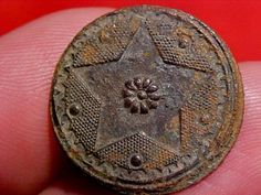 18th Century Dug Colonial Star Button