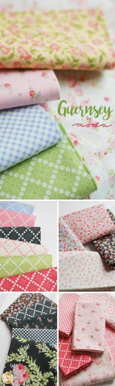 Guernsey is a classic floral collection by Brenda Riddle for Moda Fabrics available at Shabby Fabrics!