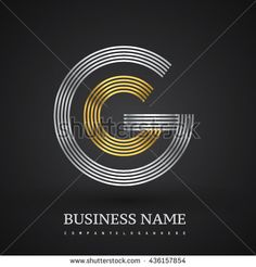 Letter GG linked logo design circle G shape. Elegant silver and gold colored letter symbol. Vector logo design template elements for company identity. - stock vector