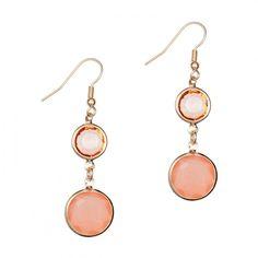Boucles d'oreilles pendantes pierres roses