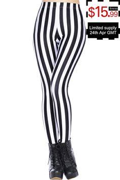 ROMWE | ROMWE Sexy Little Zebra Leggings, The Latest Street Fashion