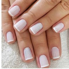 Detalhe da filha única glitter em pó! #oficinadasunhas Fabulous Nails, Perfect Nails, Gorgeous Nails, Hair And Nails, My Nails, Wedding Day Nails, School Nails, Funky Nails, Manicure E Pedicure