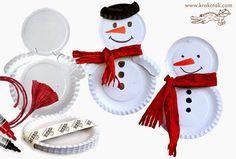 Όμορφες χριστουγεννιάτικες κατασκευές που μπορείτε να φτιάξετε με τα παιδιά σας, χρησιμοποιώντας απλά υλικά που έχετε σπίτι και χάρτινα πιάτα. Καλή έμπνευση! via
