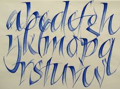 qi in your calligraphy strokes - calligraphy alphabet by rainer wiebe - calligraphy masters