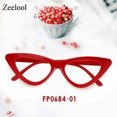 4b72c6fe1b Joanna Cat Eye Red Glasses FP0684-01