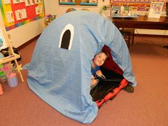 Jonah and the Big Fish (just a tent covered in a blue sheet)