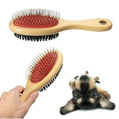 Pet Double Sided Comb Cat Dog Wooden Bristle Pins Grooming Brush -- You can get additional details at the image link.