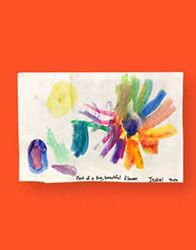 Giant Colorful Flowers! --- At Willard, we have access to plenty of watercolors and Big Rolls of Paper. It would be neat to make an oversize Painting like this and really over-do it on color.