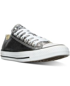 35070fb3cb55 Converse Women s Chuck Taylor Ox Metallic Leather Casual Sneakers from Finish  Line Converse Style