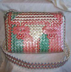 Vintage Prison Art Cigarette Purse Handbag por FadingFiftiesVintage