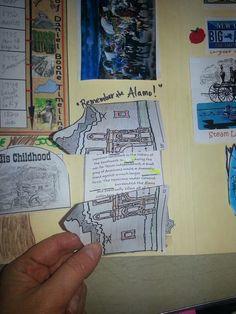 "Westward expansion lap book ""Remember the Alamo"" Alamo picture cut in ..."