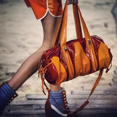 @Mercedes-Benz Fashion Week (Mercedes-Benz Fashion Week) 's Instagram photos |  HANDBAG HEAVEN with @Tommy Hilfiger's updated duffel for #Spring2014