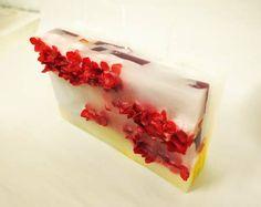 花キャンドル red