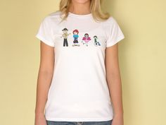 Ladies Slim Fit T-Shirt with full color custom family.