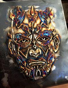 Original Star Wars TIG Art: Darth Maul Artist: Richard Lauth. #westcoweld #welding #weldart #weldingart #tigweld #ukwelding #metalwork #sculpture