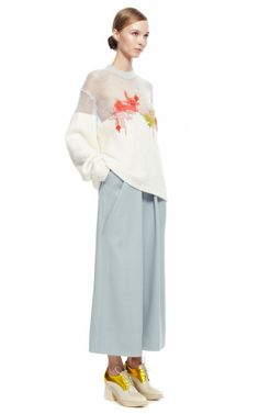 Pant With Symmetric Pleats by DELPOZO for Preorder on Moda Operandi