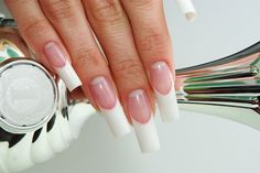 Long square french nail art is my all time favorite.