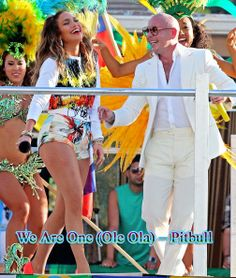 We Are One (Ole Ola) – Pitbull (2014) Official FIFA World Cup Song Bluray Video Songs Name: We Are One (Ole Ola) Singer:  Pitbull feat. Jennifer Lopez & Claudia Leitte performing  Item: [The Official 2014 FIFA World Cup Song] Olodum Mix: (C) 2014 RCA Records, a division of Sony Music Entertainment