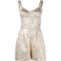 Dolce & Gabbana Floral Brocade Playsuit ($1,675) ❤ liked on Polyvore featuring jumpsuits, rompers, jumpsuit, bustier jumpsuit, metallic romper, floral romper jumpsuit, floral print jumpsuit und dolce gabbana bustier