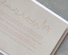 Letterpress Copper London Wedding Stationery by Wolf & Ink by Wolf & Ink Classic Wedding Stationery, Chelsea London, Letterpress Wedding Invitations, Gold Ink, London Wedding, Wax Seals, Marriage, Copper, Antique Gold