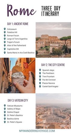 Visit Rome, Italy – the eternal city – and visit some of the most beautiful and historical sites in just three days. Here are the things to do in Rome in 3 days. What to see and do in Rome in three days Italy Travel Tips, Rome Travel, Travel List, Paris Travel, France Travel, Budget Travel, Visit Rome, Visit Italy, Rome Places To Visit